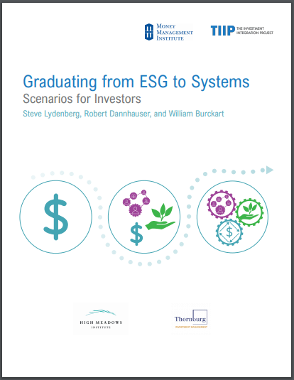 Graduating from ESG to Systems